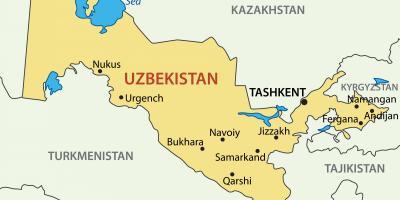 Karta Uzbekistan Kartice Uzbekistana Srednja Azija Azija